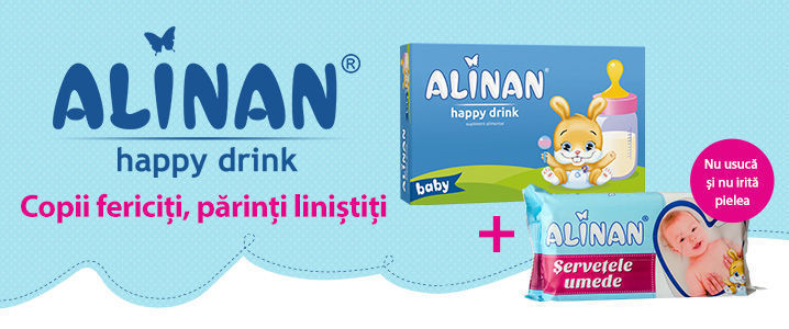 Alinan Happy Drink + Cadou Servetele umede