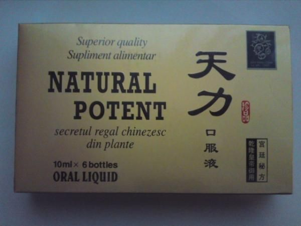 Natural Potent, 6 fiole x10ml