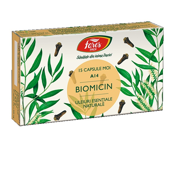 Fares Biomicin 15 capsule moi (antibiotic natural)