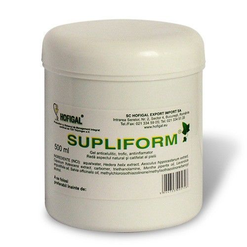 Supliform gel anticelulitic 500 ml