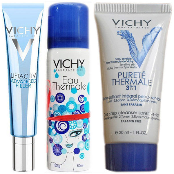 Vichy Liftactiv Advanced Filler + Vichy Apa termala + Demachiant integral 3 in 1