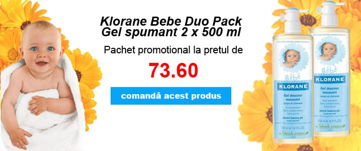 Klorane Bebe Gel spumant Duo Pack
